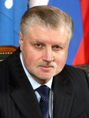 The president of the political party А Just Russia - Sergei Mironov
