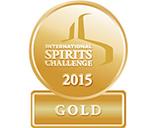 Золотая медаль за качество  International SPIRITS Challenge 2015 (Лондон)