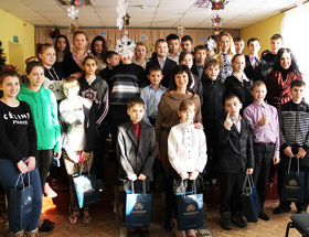 Diamond Holding employees congratulated children of the orphanage-school at Orekhovo-Zuevo