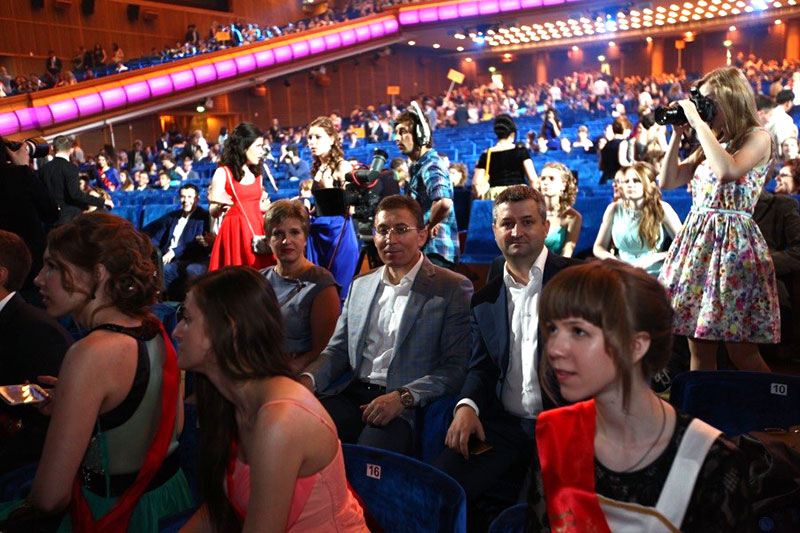 Заур Балагов - президент Холдинга Даймонд - поздравил выпускников 2015 в Кремле