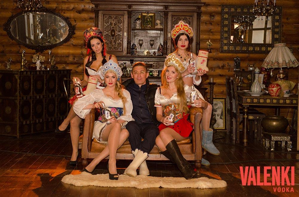 Заур Балагов на съемке ролика VALENKI