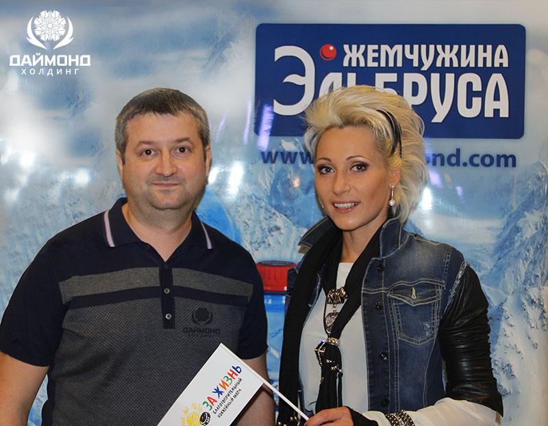 Andrey Mishurov with violinist Viva Skripka