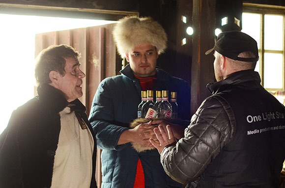 Булдаков Алексей (Михалыч) на съемках проекта VALENKI