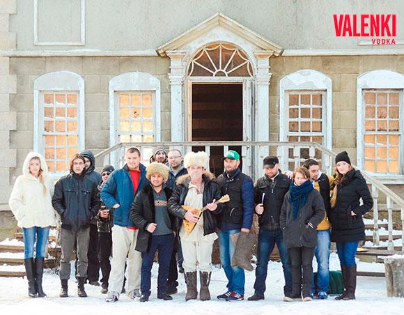 Съемочная группа на съемках короткометражного кино для бренда VALENKI и ГК Даймонд