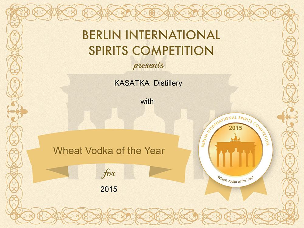 KASATKA стала «Лучшей пшеничной водкой года» в Берлине