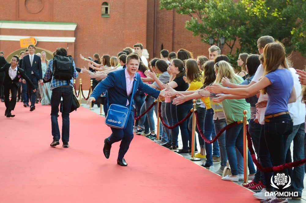 Holding Diamond presented awards to graduate in 2014 - the red carpet to the Kremlin Palace