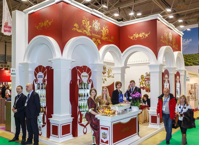 Королевский стенд и изысканные вина от Холдинга Даймонд на международной выставке Продэкспо 2016