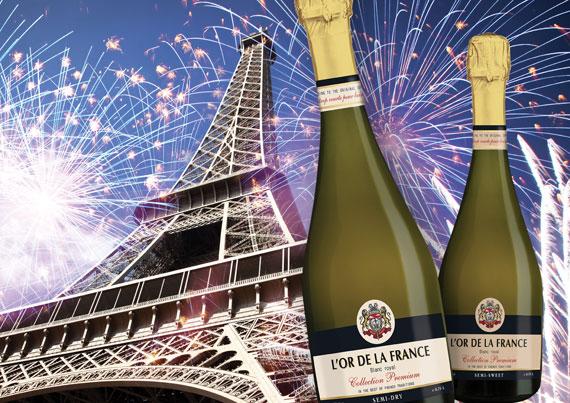 Игристое вино «L'or de la France» - вкус роскошной жизни!