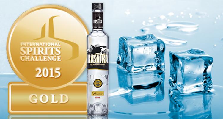 Водка KASATKA получила золотую медаль за качество на International SPIRITS Challenge 2015
