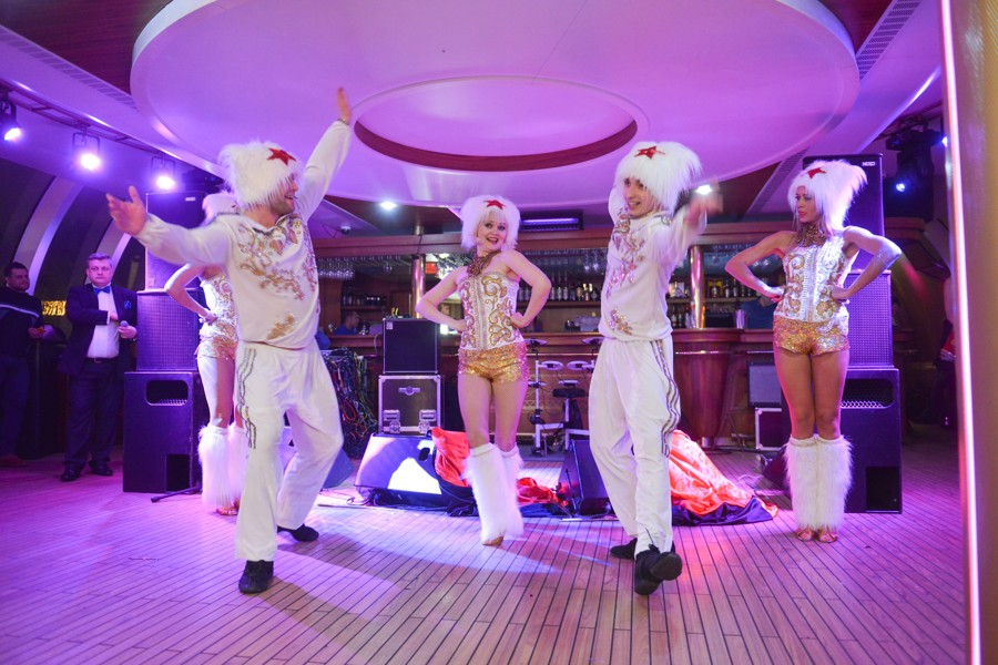 Diamond Holding made a holiday show for partners on a yacht