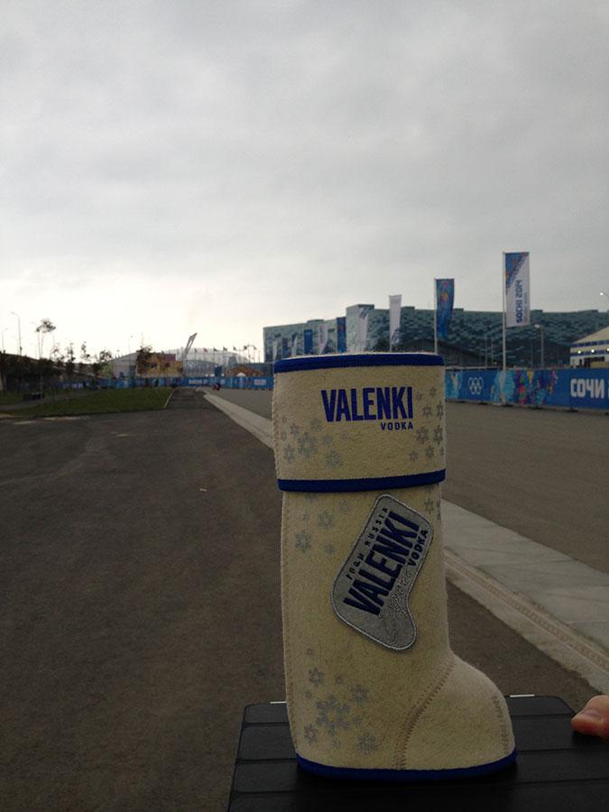 Волонтеры показали дорогу… водка VALENKI