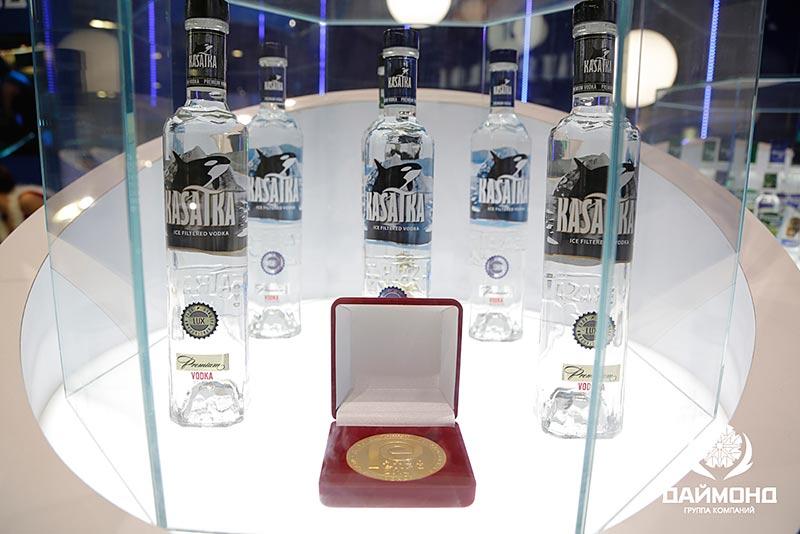 Vodka Kasatka - gold medal for high quality
