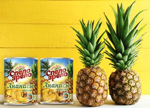 Фрукты в сиропе - ананасы консервированные Спело-Зрело