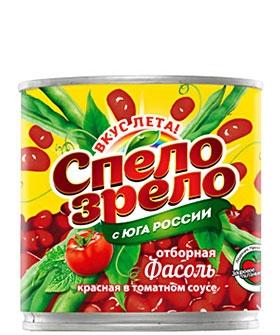 Фасоль красная <br>в томатном соусе Спело-Зрело