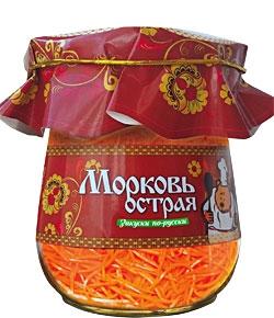 """Салат """"Морковь острая"""" - консервированный готовый салат Спело-Зрело от производителя Даймонд Продукт (Холдинг Даймонд)"""