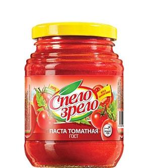 Томатная паста (ГОСТ) СПЕЛО-ЗРЕЛО в стеклянной банке. Лучшая томатная паста