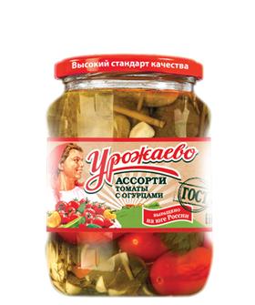 Ассорти (томаты с огурцами) Урожаево 720мл