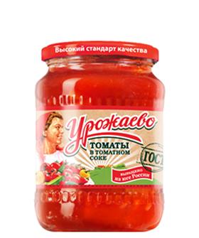 Томаты в томатном соке Урожаево