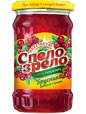 Брусника - ягода, протертая <br>с сахаром СПЕЛО-ЗРЕЛО
