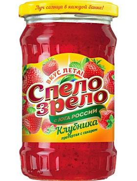 Клубника,протертая <br>с сахаром СПЕЛО-ЗРЕЛО
