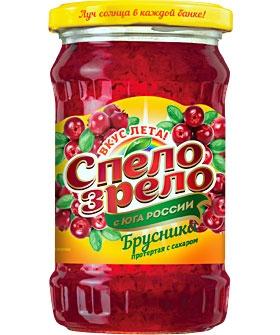 Малина - ягода, протертая <br>с сахаром СПЕЛО-ЗРЕЛО
