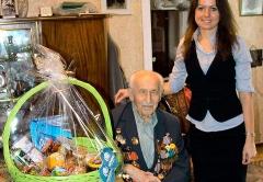 Холдинг Даймонд поздравил Акаки Согратиевич Цивилашвили с 70летием Великой Победы