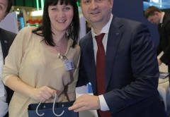Andrew Mishurov solemnly hands presents to the best partners
