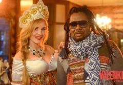 Инуса Давуда и русская красавица на съемках видео проекта VALENKI от ГК Даймонд