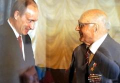 Алексей Николаевич Ботян - ветеран ВОВ и Владимир Путин
