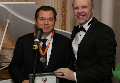 Academician Sergei Glazyev handed diplomas newly made academicians of the Academy of Management and Business Administration.