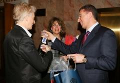Zaur Balagov - President of the Diamond Holding and Lyubov Kazarnovskaya with her husband