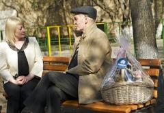 "Оксана Исаева (Холдинг "" Даймонд"") и актер Василий Лановой"