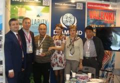 "Заур Балагов и Андрей Мишуров (Холдинг ""Даймонд"") на международной выставке PROWINE CHINA 2014"