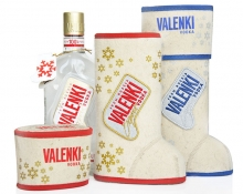 Traditional RUSSIAN packing of the VALENKI vodka