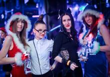 Fun party at the club Tesla, Rostov-on-Don. Sponsor of the event - VALENKI vodka
