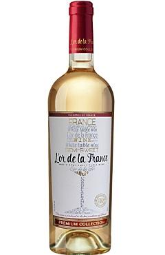 White semi-sweet wine from a series «L'or de la France»