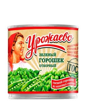 Горошек зеленый «Урожаево» консервированный от производителя