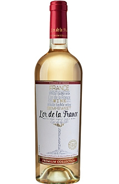 White semi-sweet wine from a series «L'or de la France»