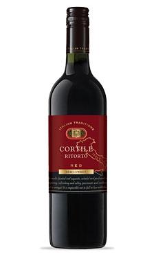 Вино столовое Красное полусладкое Cortile Ritorto