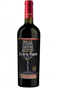 Вино красное полусладкое «L'or de la France»